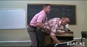 Athletic college guys enjoying gay anal in strong scenes