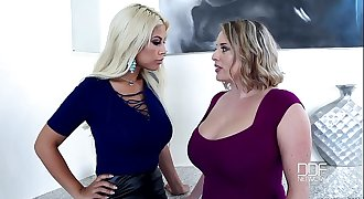 Sapphic Examination - Chesty Babes Play With Their Big Tits