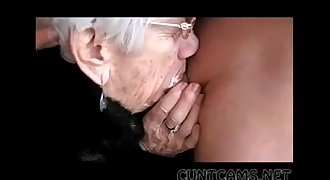 Granny Sucks Boys Cock for Her Birthday - More at cuntcams.net