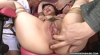 Fellas are all over her wet pussy and she is getting off with intensity