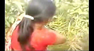 hot telugu school teacher striping her saree  in outdoor and fucking with neighbour uncle @ Leopard6